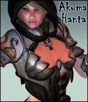 Akuma Hanta Fantasy Outfit & 10 Poses 3D Figure Essentials Gaming 3D Models RPublishing