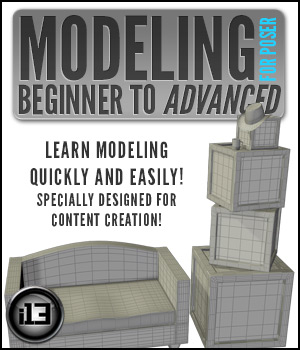 Modeling for Poser Beginner to Advanced Tutorials ironman13