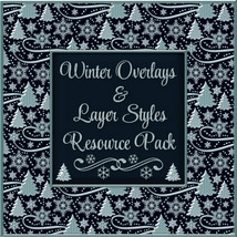 Design Resource: WINTER Overlays &  Layer Styles Pack 2D Graphics fractalartist01