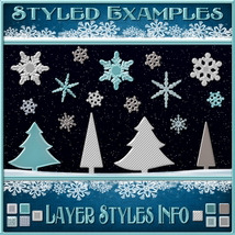 Design Resource: WINTER Overlays &  Layer Styles Pack image 3