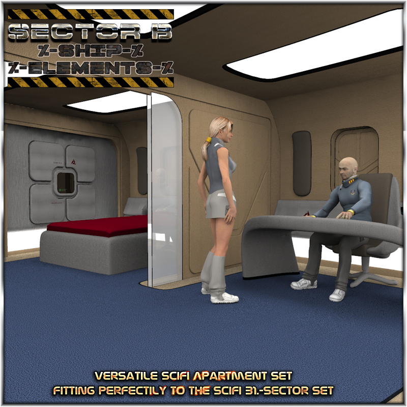 Ship Elements B2: SciFi Apartment