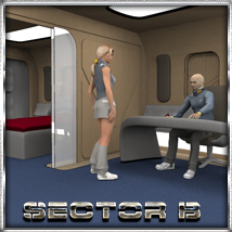 Ship Elements B2: SciFi Apartment 3D Models 3D Figure Essentials 3-d-c