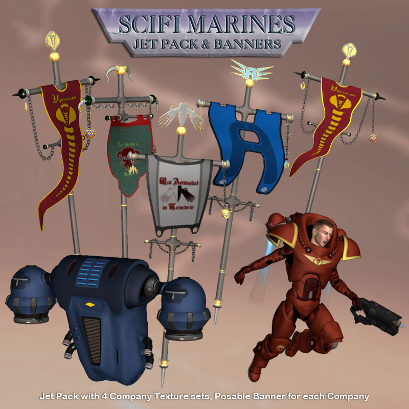 Scifi MarineJet Pack & Banners