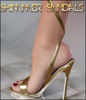 Shimmer Sandals 3D Figure Essentials lilflame