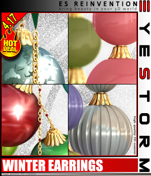 ES - REINVENTION - for ES Winter Earrings 3D Models 3D Figure Essentials EyeStorm