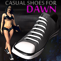 Y3D Everyday Casual Shoes for Dawn 3D Figure Essentials Yanelis3D