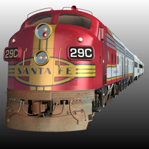ATSF SUPER CHIEF BUNDLE for Poser Transportation Themed Nationale7