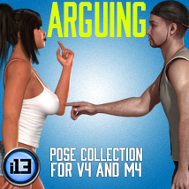 i13 ARGUING for V4 and M4 3D Figure Assets 3D Models ironman13