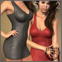 HOT Dress for Genesis 2 Female(s) 3D Figure Assets 3D Models outoftouch