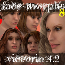 Farconville's Face Morphs 8 for Victoria 4.2 3D Models 3D Figure Essentials farconville