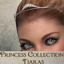 Princess Collection V1- Tiaras 3D Models PandyGirl