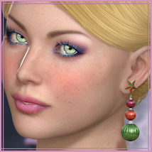 Dazzle for Winter Earrings Accessories Themed -Wolfie-