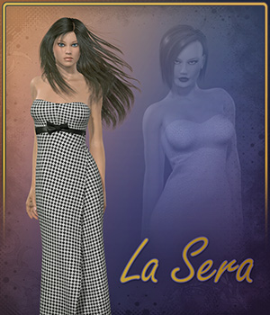 La Sera Dynamic Dress for V4 and Dawn 3D Figure Assets Frequency