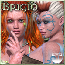 DTG Studios' Brigid for V4 3D Figure Essentials 3D Models DTHUREGRIF