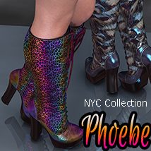NYC Collection: Lace-up Boots Phoebe 3D Figure Assets 3DSublimeProductions