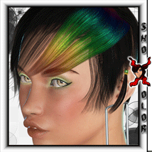 ShoXoloR for Melarael Hair 3D Figure Essentials ShoxDesign