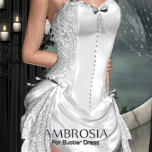 AMBROSIA for Bustier Dress 3D Figure Assets ANG3L_R3D