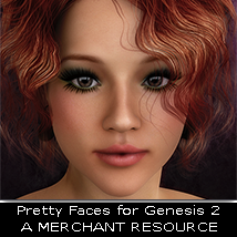 3DS Pretty Faces Genesis 2 MR 3D Figure Assets Merchant Resources 3DSublimeProductions