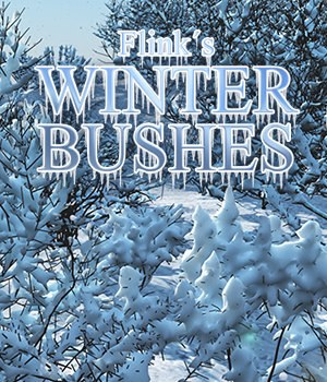 Flinks Winter Bushes Props/Scenes/Architecture Themed Flink