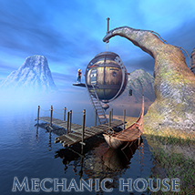 Mechanic house 3D Models 1971s