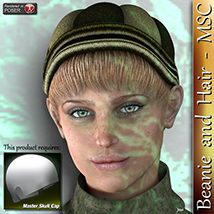 Beanie and Hair - MSC 3D Figure Assets 3Dream