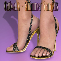 Catwalk - Shimmer Sandals Clothing Footwear Themed kaleya