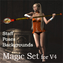 Magic set for V4 2D Graphics 3D Figure Assets Leije