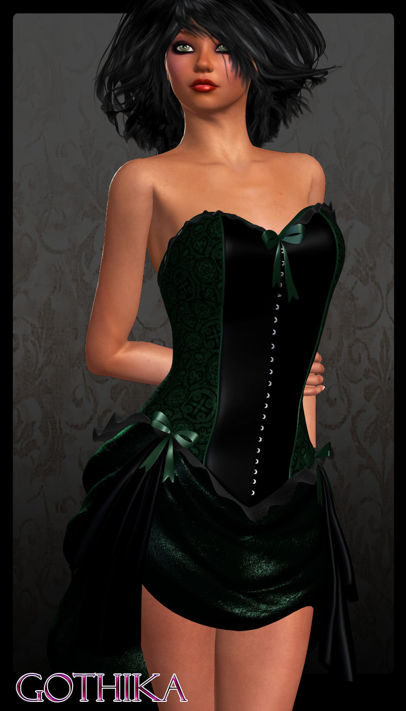 GOTHIKA for Bustier Dress by ANG3L_R3D