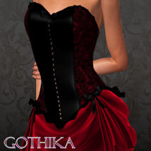 GOTHIKA for Bustier Dress Clothing ANG3L_R3D
