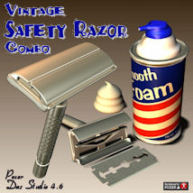 Vintage Safety Razor Combo 3D Models pappy411