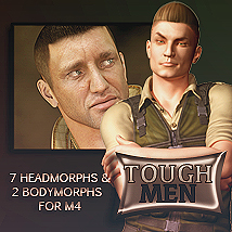 Tough Men 3D Figure Assets lexana