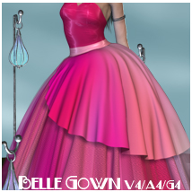 Belle Gown V4-A4-G4 3D Figure Essentials nikisatez