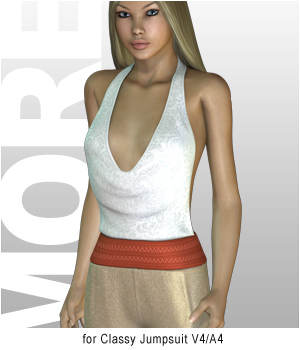 MORE Textures & Styles for Classy Jumpsuit 3D Figure Assets 3D Models motif