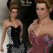 7th Ave: Bustier Dress 3D Figure Essentials 3-DArena