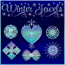 Winter Jewels with Free Gift 2D 3D Models fractalartist01