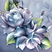 Moonbeam's Porcelain Roses 3D Models 2D moonbeam1212