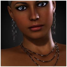 Simply Beautiful - Cube Jewelry for V4 3D Figure Assets jonnte