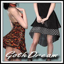 Gothic Dream Clothing 2P3D