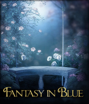 Fantasy in Blue 2D Graphics Sveva