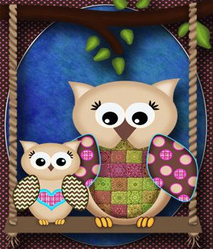 Cute Little Hoots! 2D And/Or Merchant Resources 3DSublimeProductions