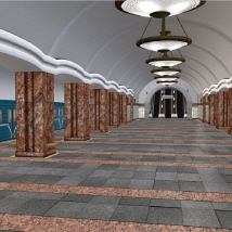 Metro Subway Station 3D Models D_jerry