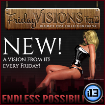 i13 Friday Visions Vol2 Themed Software Poses/Expressions ironman13
