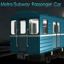 Metro Subway Passenger Car 3D Models D_jerry