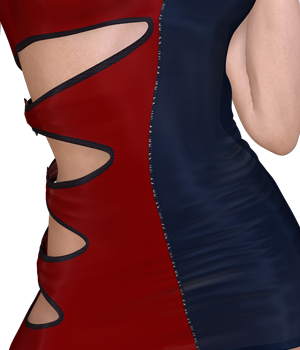 Oh My! - Outshine Dress 3D Figure Assets 3D Models nirvy