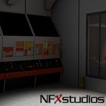 NFXstudios Space Cruiser Engine Room 3D Models NFXstudios