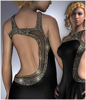 Glamorous Evening Gown 3D Figure Assets RPublishing