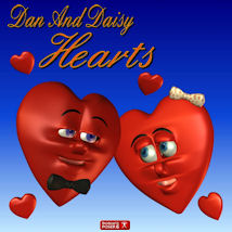 Dan and Daisy Heart Themed Props/Scenes/Architecture Stand Alone Figures pappy411