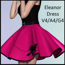 Eleanor Dress V4-A4-G4 3D Figure Assets nikisatez