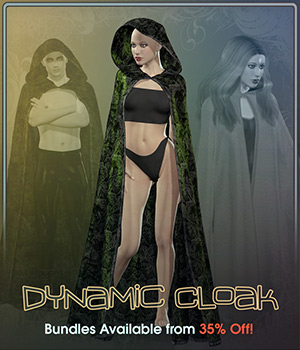 Dynamic Cloak 3D Figure Assets Frequency