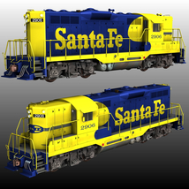 ATSF FREIGHT TRAINBUNDLE for Poser image 1